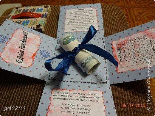 Вдохновившись мастер-классами от рукодельниц Страны Мастеров, тоже делала Magic box дяде на День Рождения. фото 3
