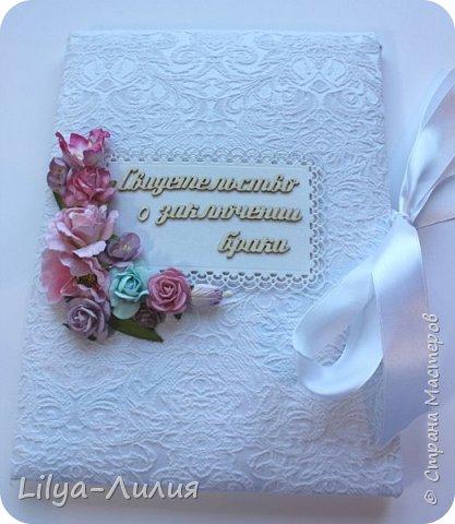 Набор на свадьбу. Альбом , коробочка и папка для свидетельства на свадьбу. фото 23
