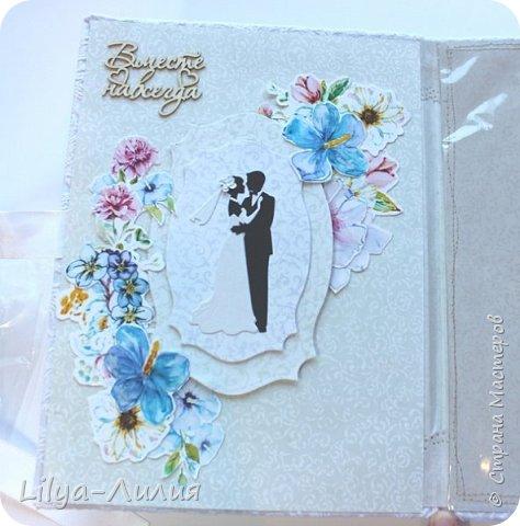 Набор на свадьбу. Альбом , коробочка и папка для свидетельства на свадьбу. фото 25