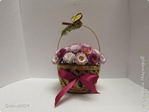 Цветы в корзиночках фото 1