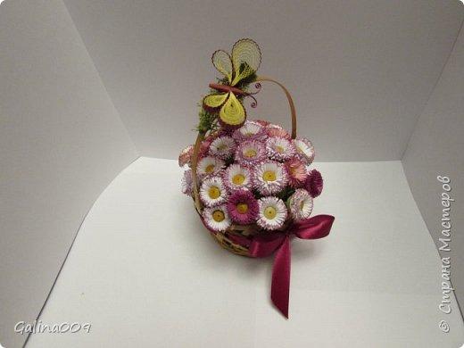 Цветы в корзиночках фото 3