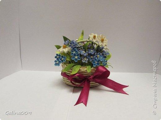 Цветы в корзиночках фото 4