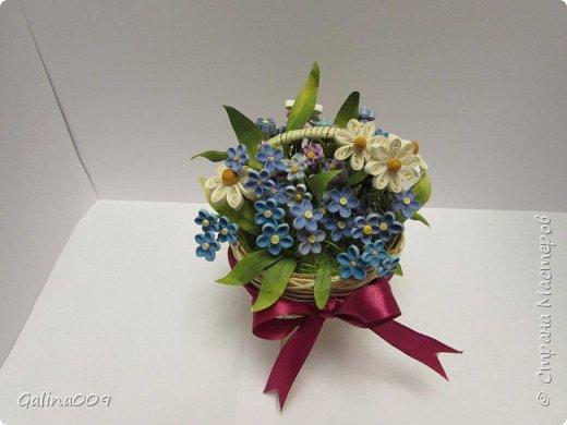 Цветы в корзиночках фото 5