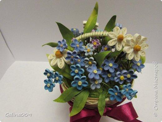 Цветы в корзиночках фото 6