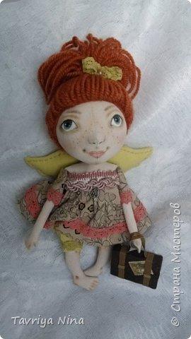 Кукла из бязи,расписана акриловыми красками. Высота-25 см. Голова и ручки поворачиваются.  фото 2