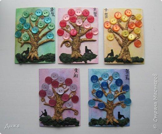 """Всем огромный приветик! Представляю вам АТС карточки """"В тени деревьев"""" дополнительные. Вот и начался учебный год. Я перешла в 5 класс. Учиться здорово, мне очень нравиться! Только времени уже мало для другого.  Дополнительные карточки сделала, чтобы покрыть долги.  Сама серия вот здесь http://stranamasterov.ru/node/1107232   Я должна карточки мастерицам Элайджа http://stranamasterov.ru/user/399311, Torkin (Инна) http://stranamasterov.ru/user/420446 (за """"Барджелло""""), Светик-Светланка http://stranamasterov.ru/user/352718 (за """"Алиса в стране чудес""""),  Светлана Г.З. http://stranamasterov.ru/user/125847  (уже получила карточку), Мария Соколовская  http://stranamasterov.ru/user/346201  (за """"Такие разные женщины"""") прошу их выбирать, если им понравиться.  Скоро выйдет ещё одна серия, тогда и покрою полностью долги (есть ещё мастерицы)  :-)  Для мастерицы  Ольвия - Елена обещала сделать """"Древо мудрости"""". Я помню. Просто в первую очередь хочу отдать долги.   фото 1"""