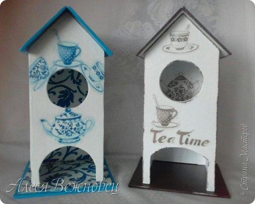Домики для пакетиков чая.Кухонная тематика. Мои первые работы) фото 1