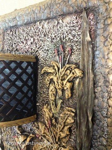 Здравствуйте дорогие жители Страны! Сегодня на Ваш суд выношу свои две работы.  Шкатулка для рукоделия. Размер: 31*10 см. Трубочки - полоса 10,5 см и 7 см на спицу 2мм. Окрашены ВМ мокко и сильно разбавленной лиственницей. фото 9