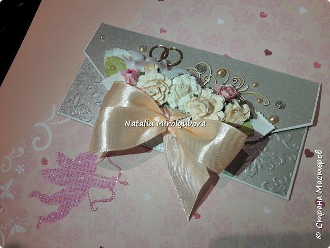 Подарочный конверт для денег на свадьбу фото 2