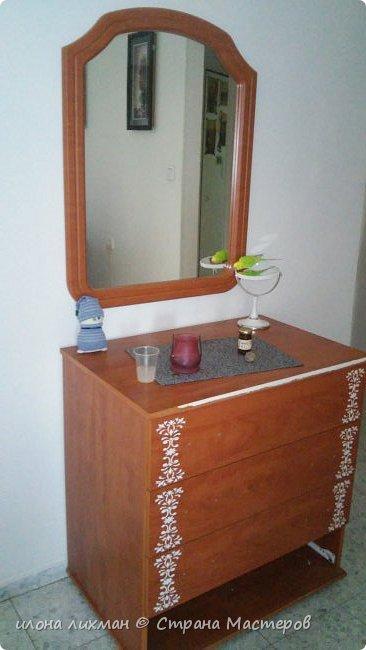 Доброе утро всем всем !Хочу показать вам результат моей работы с меловой краской.Это изобретение Энни Слоун и идеально подходит для перекраски  мебели в стилях прованс,шебби, кантри.Краска имеет шелковистую матовую поверхность и ложится без грунта.Ну да я здесь не для рекламы,а похвастаться...Проходите,смотрите. фото 2
