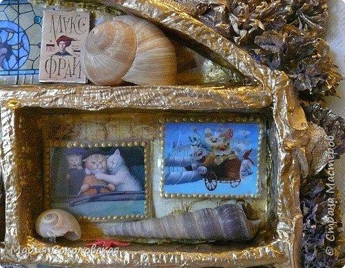 """Здравствуйте дорогие жители страны мастеров! Наконец-то выкладываю новый шедоубокс (ключницу) """"Славный день"""". Раньше не могла выложить, т.к. это подарок на День Рождения прекрасному человеку, моей хорошей знакомой Тане Славной (http://stranamasterov.ru/user/171745).  фото 12"""