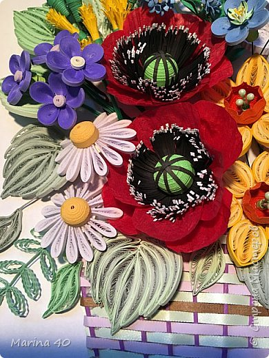 Good day everyone! The summer is over but I still stocked in spring. The poppy flowers made out of twisted paper rope. фото 3