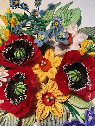 Good day everyone! The summer is over but I still stocked in spring. The poppy flowers made out of twisted paper rope. фото 4