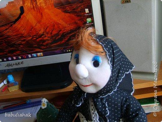 Бабуся -кукла  грелка для чайника. фото 3
