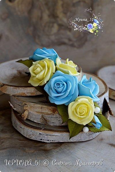 Здравствуйте! Представляю вам  мастер-класс для начинающих фом-флористов по созданию веточки с розочками для прически.  Буду рада, если он Вам пригодится! Приятного просмотра.  фото 4