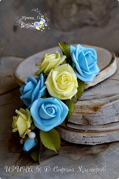 Здравствуйте! Представляю вам  мастер-класс для начинающих фом-флористов по созданию веточки с розочками для прически.  Буду рада, если он Вам пригодится! Приятного просмотра.  фото 5