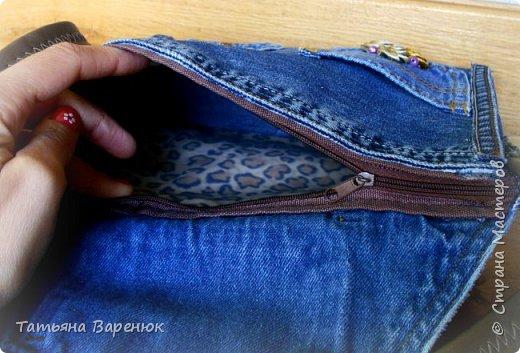 Абракадабра....и...старые джинсы превращаются в новый органайзер фото 10