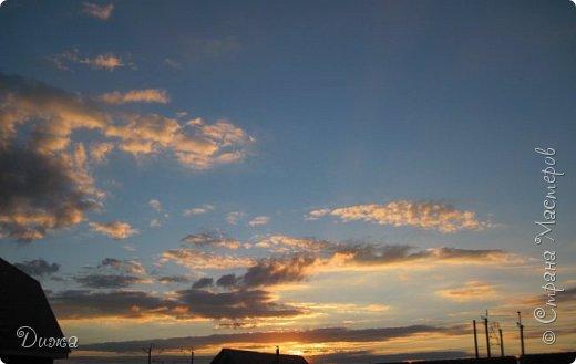 """Всем привет!!! Хочу поделиться с вами красотой!!! """"Закат"""" Фотографировала у себя во дворе . Так красиво, вот бы научиться так рисовать, такие краски, красивые переходы... фото 1"""