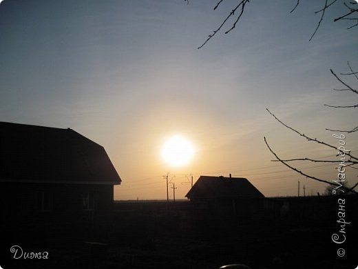 """Всем привет!!! Хочу поделиться с вами красотой!!! """"Закат"""" Фотографировала у себя во дворе . Так красиво, вот бы научиться так рисовать, такие краски, красивые переходы... фото 2"""