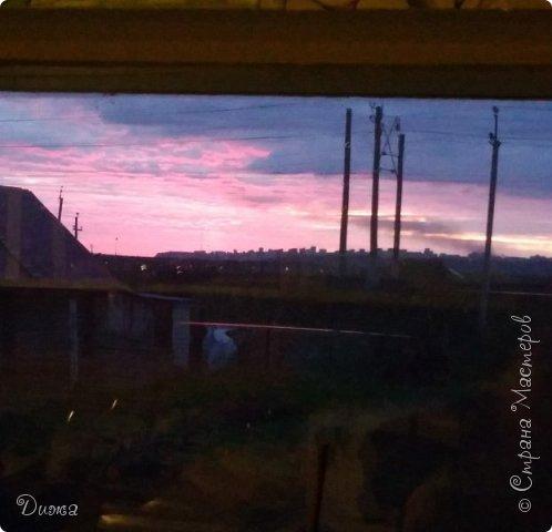 """Всем привет!!! Хочу поделиться с вами красотой!!! """"Закат"""" Фотографировала у себя во дворе . Так красиво, вот бы научиться так рисовать, такие краски, красивые переходы... фото 5"""