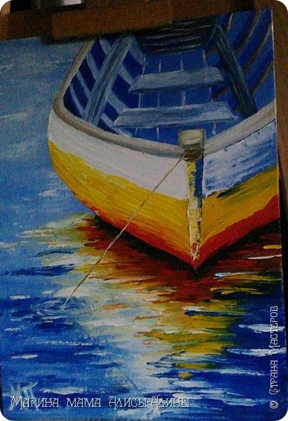 """Привет всем! """"Средиземноморье"""". Масло, холст на картоне. Рисовала ещё в июле, потом у меня был большой перерыв в творчестве. фото 6"""