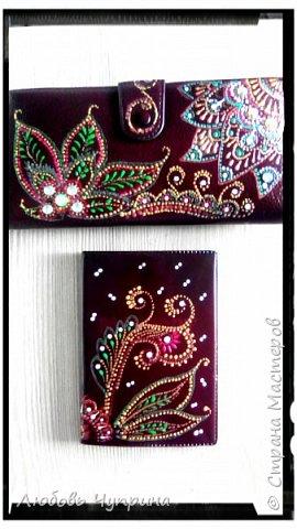 Набор- кошелёк и обложка на паспорт фото 2
