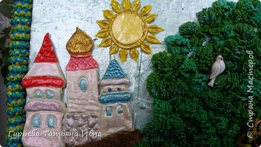 Панно делалось в школу для защиты проекта по сказкам А.С.Пушкина.  фото 4