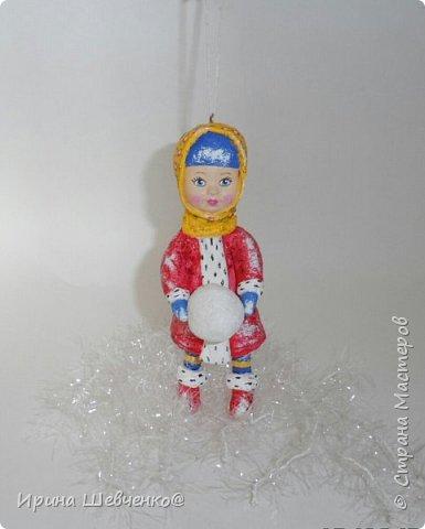 Ёлочная игрушка из ваты, 12см. фото 1