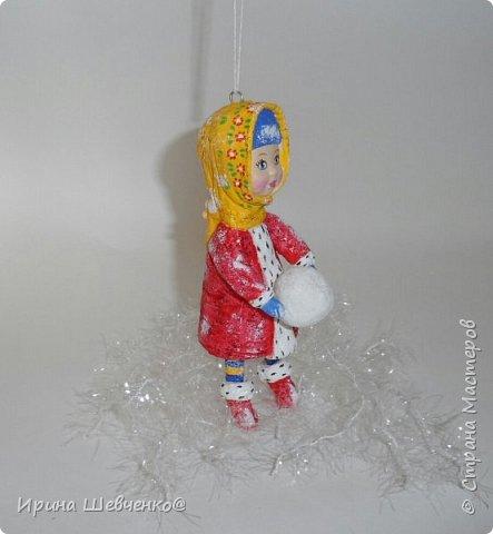 Ёлочная игрушка из ваты, 12см. фото 2