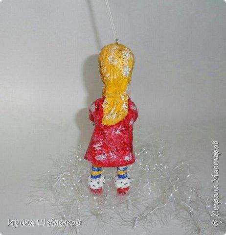Ёлочная игрушка из ваты, 12см. фото 3