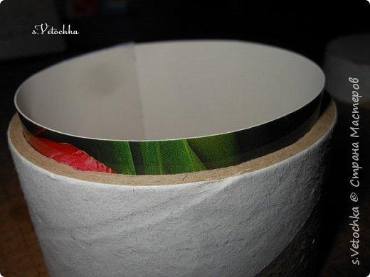Доброго времени суток всем! :)) Вот такая коробочка-шкатулка у меня получилась. И сделала я ее  из двух бобин от малярного скотча.  фото 8