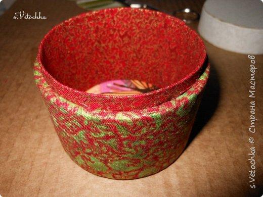 Доброго времени суток всем! :)) Вот такая коробочка-шкатулка у меня получилась. И сделала я ее  из двух бобин от малярного скотча.  фото 12