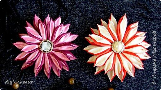 Цветы из атласной ленты 1,2см. Видео мастер-класс канзаши