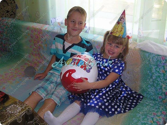Всем привет, сделала своим племянникам такие киндер-яйца, в них были упакованы подарки. фото 1