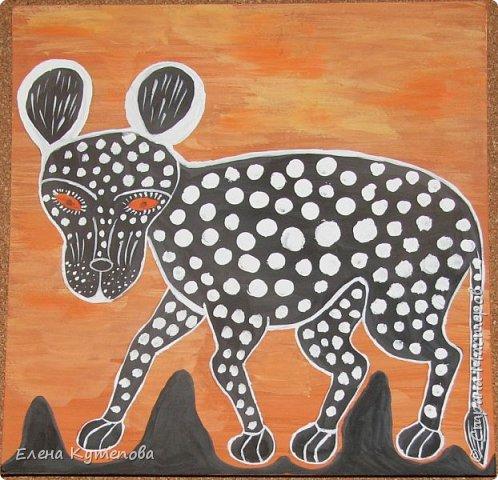 В новом учебном году я продолжила занятия с детьми на классном часе.  И сегодня дети познакомились с африканской живописью тингатинга. фото 1