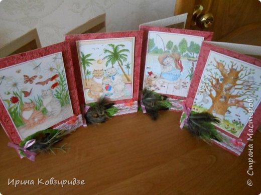 Оказывается. вот ещё открытки из этой серии. Ну, это уж точно последние! Теперь коты будут, но уже другие...Не забудьте похвалить рисунки Натальи Ильиновой, посмотрите, какие они замечательные-добрые и красивые. фото 1