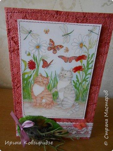 Оказывается. вот ещё открытки из этой серии. Ну, это уж точно последние! Теперь коты будут, но уже другие...Не забудьте похвалить рисунки Натальи Ильиновой, посмотрите, какие они замечательные-добрые и красивые. фото 2