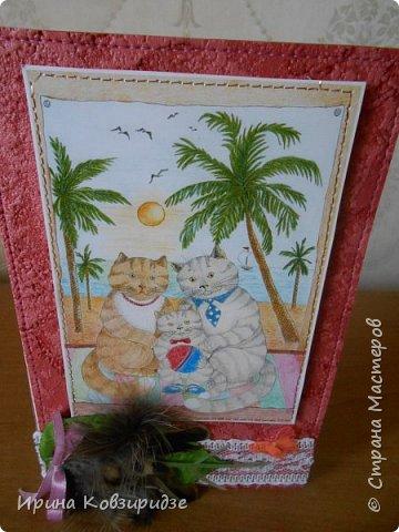 Оказывается. вот ещё открытки из этой серии. Ну, это уж точно последние! Теперь коты будут, но уже другие...Не забудьте похвалить рисунки Натальи Ильиновой, посмотрите, какие они замечательные-добрые и красивые. фото 6