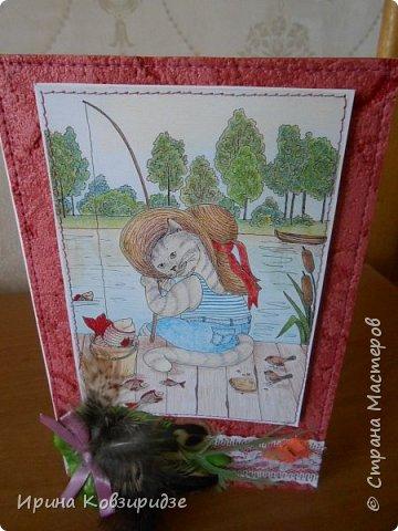 Оказывается. вот ещё открытки из этой серии. Ну, это уж точно последние! Теперь коты будут, но уже другие...Не забудьте похвалить рисунки Натальи Ильиновой, посмотрите, какие они замечательные-добрые и красивые. фото 13