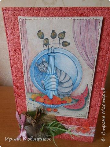 """Последние открытки из серии """"Кошки"""" по рисункам Натальи Шумихиной (Ильиновой в СМ). Я постаралась, чтобы все 16 рисунков имели отдельную открытку, а внутри я дублировала вторые экземпляры рисунков произвольно.Поэтому вы увидите какие-то рисунки дважды. фото 5"""