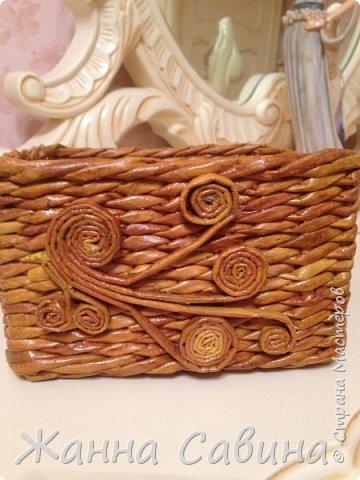 Плетение из бумажной лозы фото 4