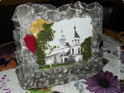"""Захотелось сделать в имитации камня  с применением техники """"Терра"""" нашу достопримечательность церковь Илии Пророка. фото 2"""
