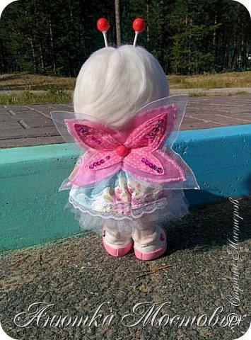 Вдохновилась и на новую куколку))) вот такая фея бабочек получилась) фото 4