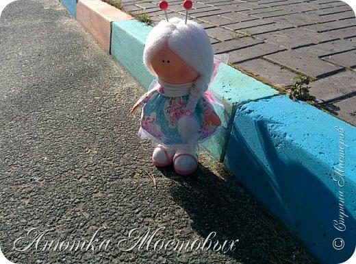 Вдохновилась и на новую куколку))) вот такая фея бабочек получилась) фото 2