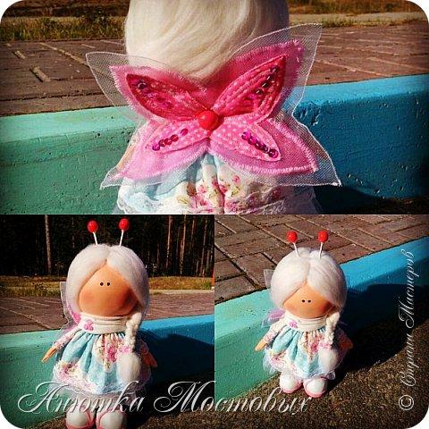 Вдохновилась и на новую куколку))) вот такая фея бабочек получилась) фото 5