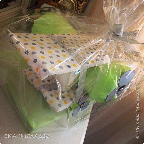 Самолётик из памперсов✈️ готов к полету !  Содержание :  -34 подгузника -2 пеленки -2 упаковки детских ватных палочек фото 2