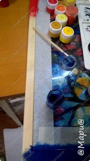 Здравствуйте. Вашему вниманию моя новая работа. Картина выполнена в технике алмазная вышивка, она же картина стразами. Полная выкладка. Размер 70*50 фото 4