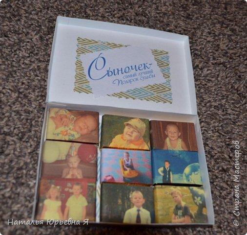Первый набор шоколадочек - для свекрови. Фото все сделаны на телефон в авральном режиме, так что - не судите строго. В живую - всё ярко и читаемо... фото 3