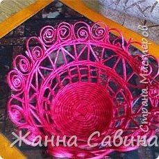 Плетение из бумажной лозы фото 13