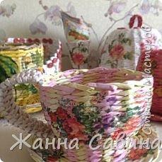 Плетение из бумажной лозы фото 9